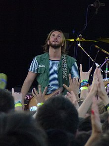 Grant Nicholas during Feeder's performance at Warwick University's Summer Party on 26 June 2011.