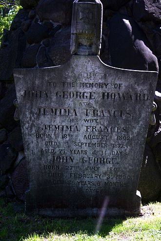 John George Howard - Gravestone of John and Jemima Howard