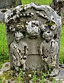 Gravestone to two children killed by a wildcat. Muirkirk, East Ayrshire.jpg