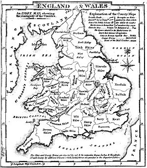 Historic counties of England - Map of the English and Welsh counties in 1824
