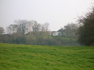Knockentiber - The large Tumulus or Mound at Greenhill Farm. 2007.