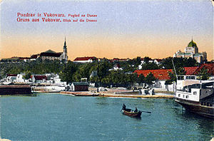 Battle of Vukovar - View of Vukovar from the Danube in 1917