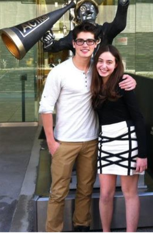 Gregg Sulkin - Sulkin posing with a fan in January 2012