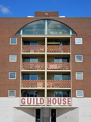 Robert Venturi - The Guild House, completed 1964, on Spring Garden Street, Philadelphia