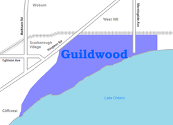 Location of Guildwood within Toronto