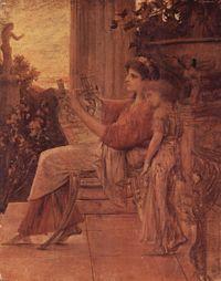 Sappho by Gustav Klimt