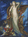 Gustave Moreau - Helene Glorifiée. Watercolor and gouache.jpg