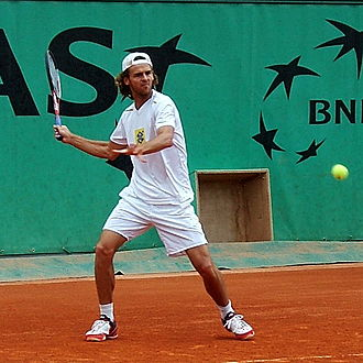 Sport in Brazil - Gustavo Kuerten at the 2005 French Open.