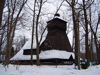 Polish minority in the Czech Republic - Wooden church in Guty built in 1563, one of the architectural symbols of the Zaolzie region