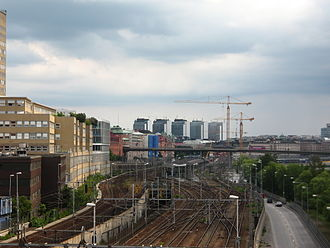 Hötorget buildings - The five buildings as seen from Sankt Eriksbron.