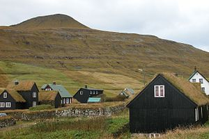 Heine Havreki - Húsavík on the island Sandoy in the Faroe Islands, the site where Heini was shipwrecked