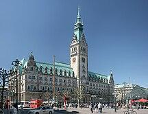 汉堡-政治-HH Rathaus pano1
