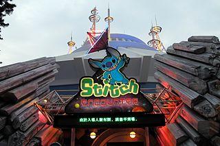 Stitch Encounter Disney theme park attraction featuring the title alien of Lilo & Stitch