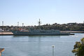 HMAS Adelaide (decommissioned) at White Bay berth.jpg