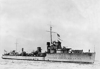 HMAS Vampire (D68) - HMAS Vampire, circa 1940