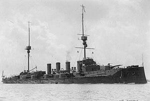 Minotaur-class cruiser (1906) - Image: HMS Minotaur USNHC NH 60086