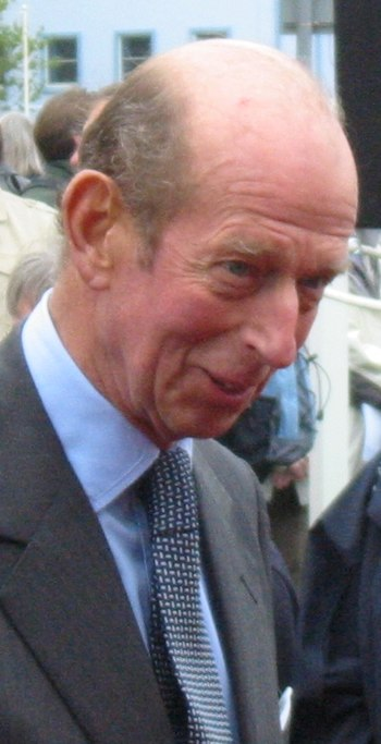 HRH Duke of Kent at Liberation Day celebration...
