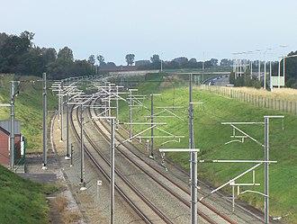 HSL 2 - HSL 2 near Berloz alongside A3/E40