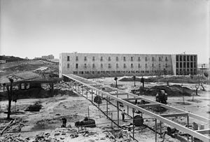 Mount Scopus - Hadassah nursing school under construction, c. 1934