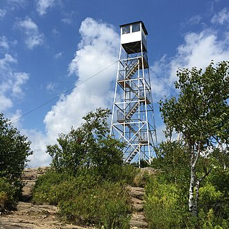 Hadley Mountain - Fire tower at the summit of Hadley Mountain