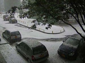 Hail in Bogota
