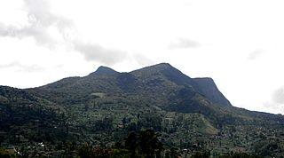 Hakgala mountain in Sri Lanka