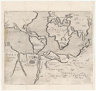 Joseph Hall (bishop) - Map from Mundus alter et idem.