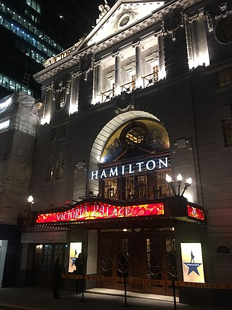 Hamilton (musical) - Hamilton at the Victoria Palace, London, in December 2017.