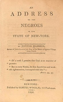 jupiter hammon an essay on slavery