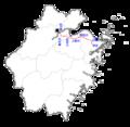 Hangzhou-Ningbo PDL on Zhejiang map.png
