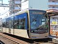 Hankai Tramway 1003 at Abikomichi Station.JPG