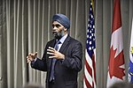 Harjit Saijan, Minister of Defence, at NORAD, Colorado, 160120-F-VT441-062 (24214724330).jpg