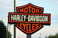 Harley-Davidson sign in Wootton - geograph.org.uk - 1372894.jpg