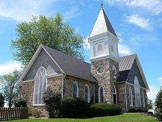 Hamilton, Virginia - The Harmony United Methodist Church in Hamilton