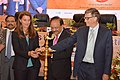 "Harsh Vardhan along with Mr. Bill Gates and Ms. Melinda Gates lighting the ceremonial lamp at the launch of the ""India Newborn Action Plan and Guidelines on Newer Initiative for Newborn Health Care"", in New Delhi.jpg"