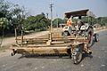 Harvester with Mahindra Swaraj 735 Tractor - NH-34 - Bethuadahari - Nadia 2014-11-28 9988.JPG