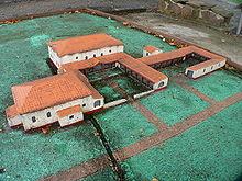 Modello di villa romana a Hessen