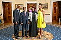 Hassan Sheikh Mohamud with Obamas 2014.jpg