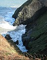 Hatling Bigni cliffs on Ceredigion Coast Path - geograph.org.uk - 1000706.jpg
