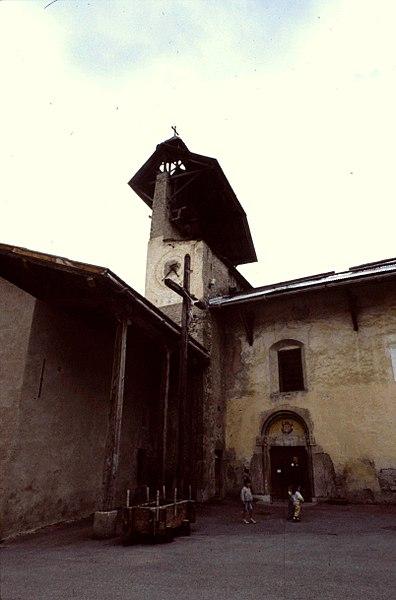 Hautes-Alpes Ceillac Eglise Saint-Sebastien Clocher 071986