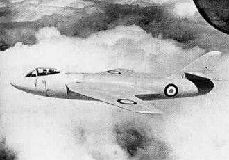 Hawker P.1081 - Image: Hawker P.1081 in flight 1950