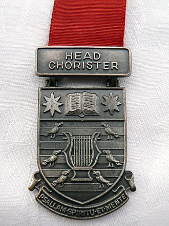 Royal School of Church Music - Image: Head Chorister Medal