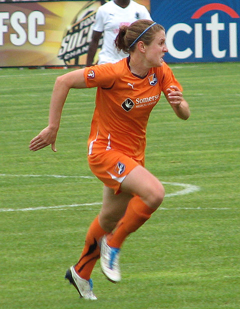 O'Reilly playing for Sky Blue FC, 2010 Heathernj-2010.jpg