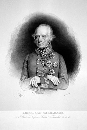 Heinrich von Bellegarde - Count Heinrich von Bellegarde, Lithography by Josef Kriehuber, 1844