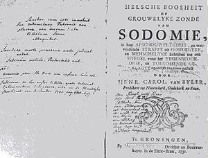 Utrecht sodomy trials - Image: Helsche Boosheit of Grouwelyke Zonde van Sodomie