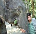 Hemanta Mishra hugging a Nepali elephant.jpg