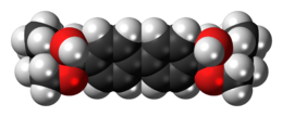 Space-filling model of the hemicholinium-3 cation