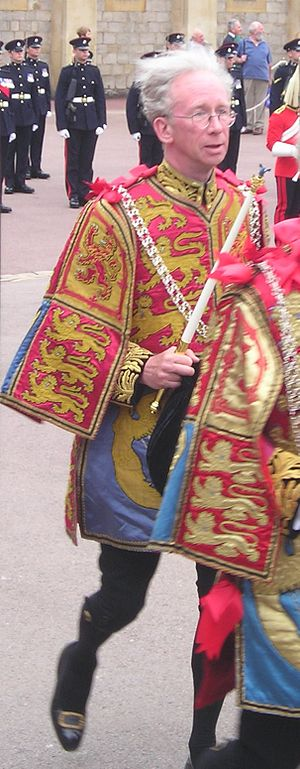 Henry Paston-Bedingfeld - Sir Henry Paston-Bedingfeld wearing his ceremonial tabard during an annual Garter Service at St George's Windsor