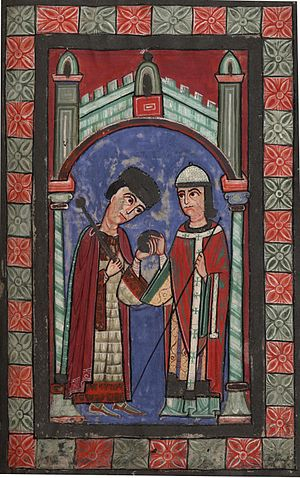 12th century depiction of Henry V, Holy Roman Empire