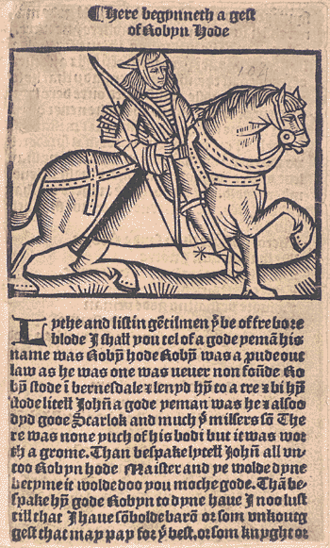 A Gest of Robyn Hode - A sixteenth-century printed edition
